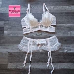 For Love & Lemon size L Evie Longline bra & belt